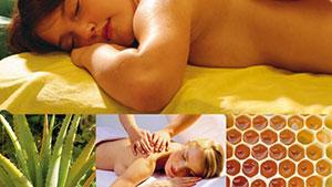 Aloe-Honig-Massage